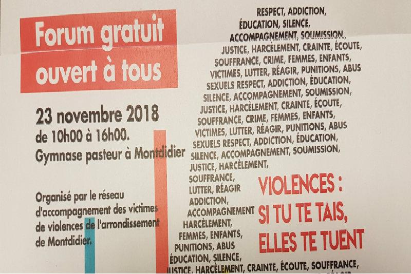 Journée de lutte contre les violences faites aux femmes et les violences intrafamiliales